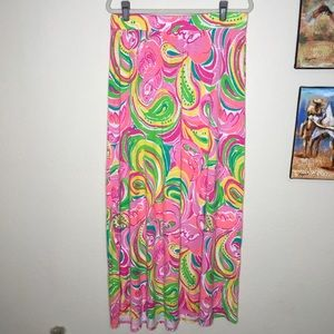 Lilly Pulitzer Marnie Maxi Skirt All Nighter XL